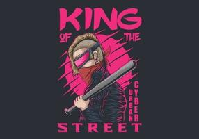 cyber urbain roi des rues vecteur