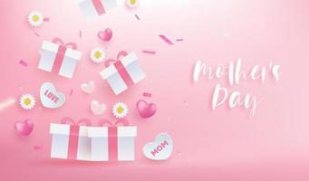 bannière de célébration de la fête des mères vecteur