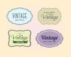 Étiquettes de vecteur Vintage gratuites