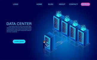 concept de salle de serveurs de centre de données
