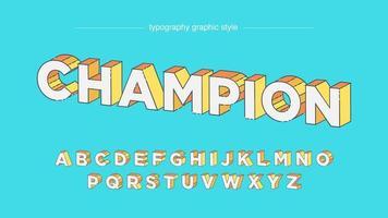typographie perspective 3d jaune