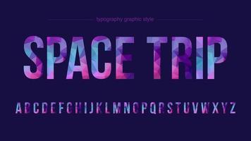 typographie colorée en poly faible majuscule