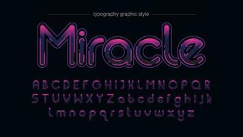 typographie à l'encre violette vibrante