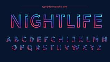 effet de texte abstrait néon coloré vecteur