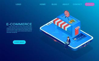 concept de magasinage en ligne e-commerce