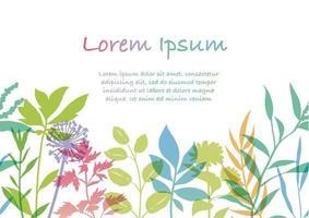 fond coloré botanique sans soudure