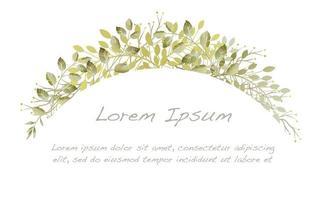 arc botanique aquarelle verte