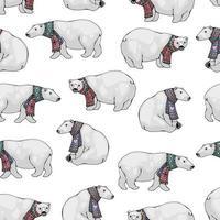modèle sans couture d'ours polaires