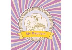 Baptême de fond de vecteur
