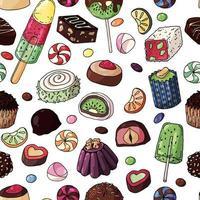 modèle sans couture de bonbons multicolores