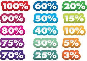 Autocollants Pourcentage De Vecteur