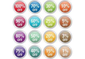 Pourcentage de vecteurs de badge vecteur