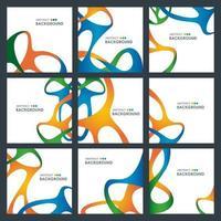 ensemble de cartes de conception de forme entrelacée abstraite