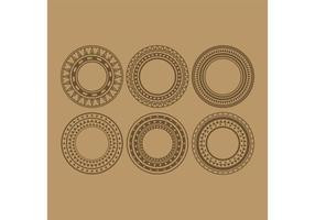 Vecteurs de cercle tribal vecteur