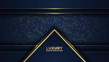 cadre de luxe foncé foncé à pois dorés vecteur