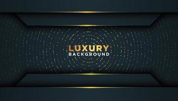 cadre géométrique 3d de luxe sombre