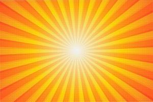 fond solaire d'été vecteur