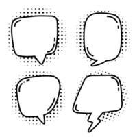 bulle de dialogue avec jeu de demi-teintes vecteur