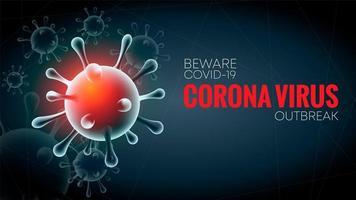 virus corona 2020 vecteur