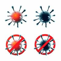 ensemble de virus corona covid-19 vecteur