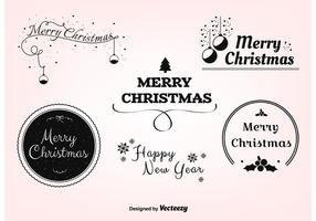 Étiquettes de vecteur de Noël gratuites
