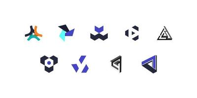 ensemble de logos géométriques minimalistes
