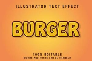 effet de texte modifiable en jaune et marron vecteur