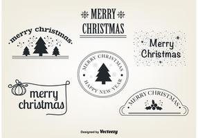 Éléments vectoriels de Noël gratuits