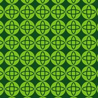 motif de forme ronde rétro vert vif
