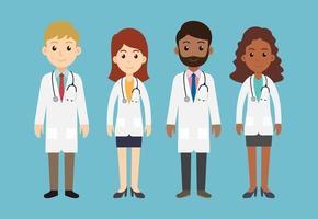 ensemble de personnages de médecin vecteur