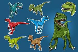 dessin de dinosaures vecteur