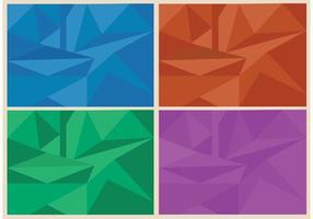 Vecteurs de fond polygonal gratuits vecteur