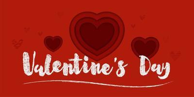 bannière de lettrage à la main de la saint valentin