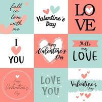 arrière-plans de phrase de la Saint-Valentin vecteur