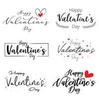 messages à la main de la Saint-Valentin heureux vecteur
