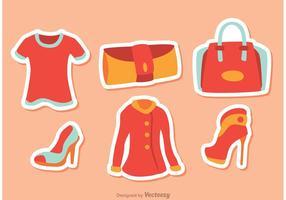 Pack de vecteurs de mode fille