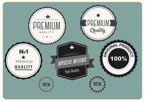 Badges vectoriels Premium gratuits vecteur