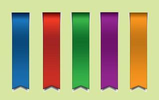 Rubans vectoriels colorés gratuits vecteur