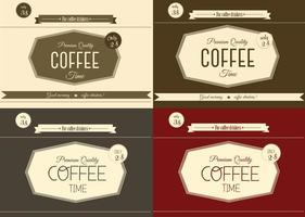 Vecteurs de café vintage gratuits vecteur