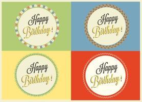 Badges vectoriels Happy Birthday gratuits vecteur