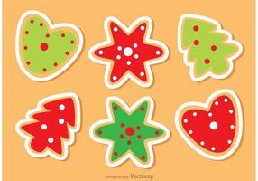 Pack de vecteurs de cookies de Noël vecteur