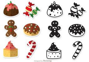 Paquet de vecteurs de desserts de Noël vecteur