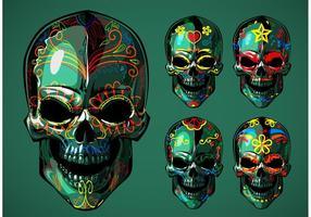 Vecteurs de crâne de sucre Dia de Los Muertos vecteur