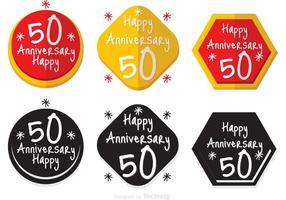 Insigne du 50e anniversaire vecteur