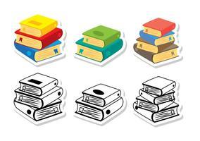 Vecteurs de pile de livres