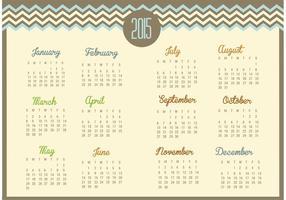 Vecteur calendrier Chevron 2015