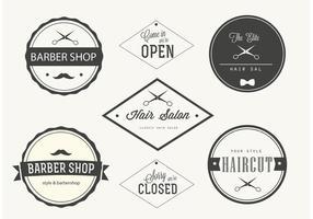 Étiquettes de barberie à la mode vecteur