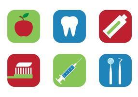 Icônes de dent de vecteur libre
