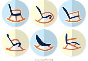 Chaises à bascule, vecteurs de conception plate vecteur
