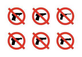 Pas de signes d'armes vecteur
